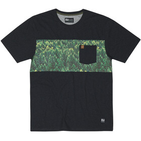 Hippy Tree Spruce Camiseta Hombre, heather black